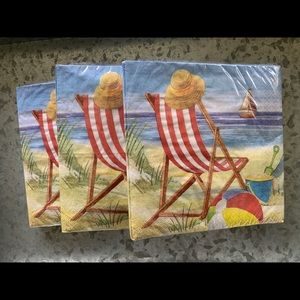 Beach house guest napkins